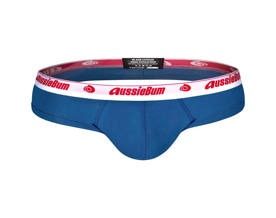 aussieBum Underwear Wonderjock Raw Exposed Brief Blue