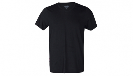 aussieBum Menswear Pima Cotton V Neck Black Tops