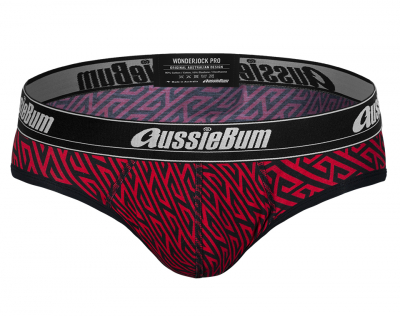 aussieBum Underwear Wonderjock Pro Geo Red Brief