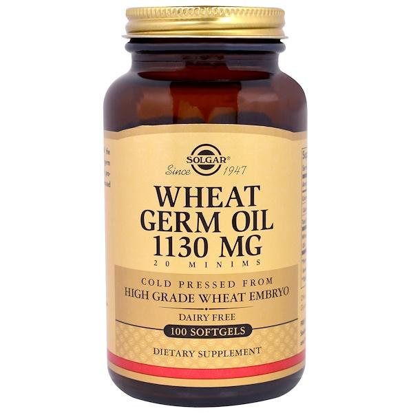 Solgar, Wheat Germ Oil, 1130 mg, 100 Softgels