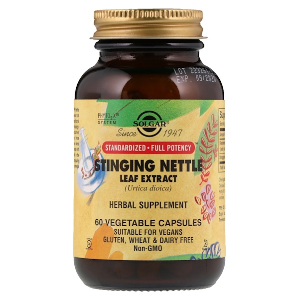 Solgar, Stinging Nettle Leaf Extract, 60 Vegetable Capsules