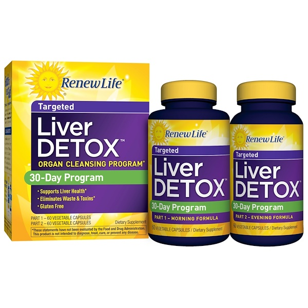 Renew Life, Liver Detox, 120 Veggie Caps, 2 Bottles, 30-Day Program