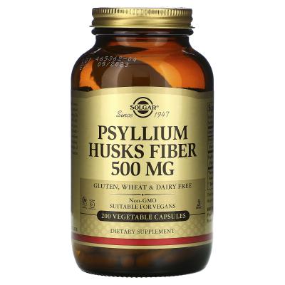 Solgar, Psyllium Husks Fiber, 500 mg, 200 Vegetable Capsules