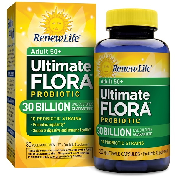 Renew Life, Ultimate Flora, Senior Formula, 30 Billion, 30 Veggie Caps