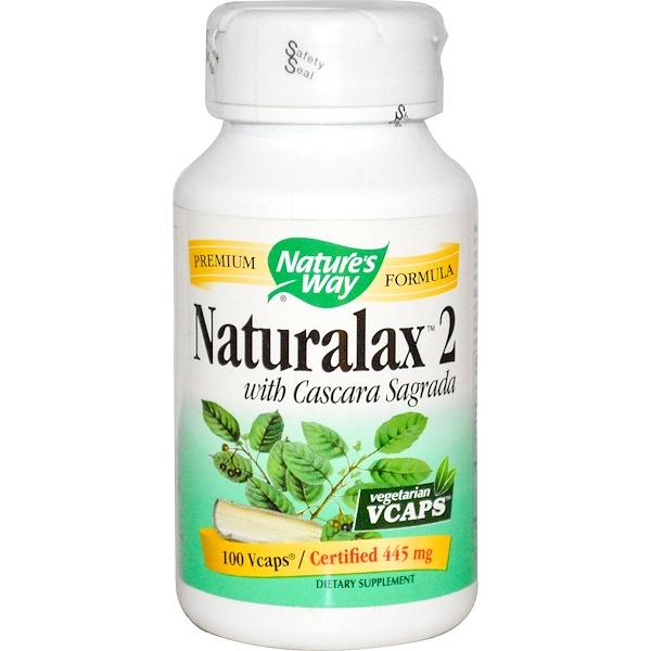 Nature's Way, Naturalax 2, with Cascara Sagrada, 445 mg, 100 Veggie Caps