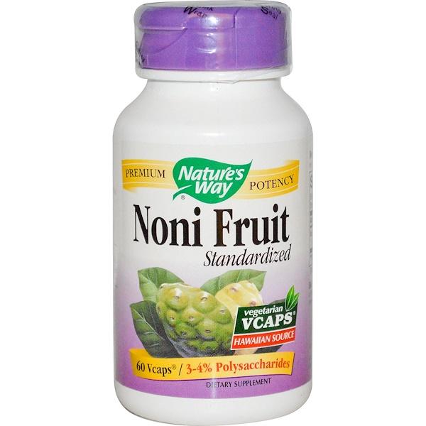 Nature's Way, Noni Fruit, Standardized, 60 Veggie Caps