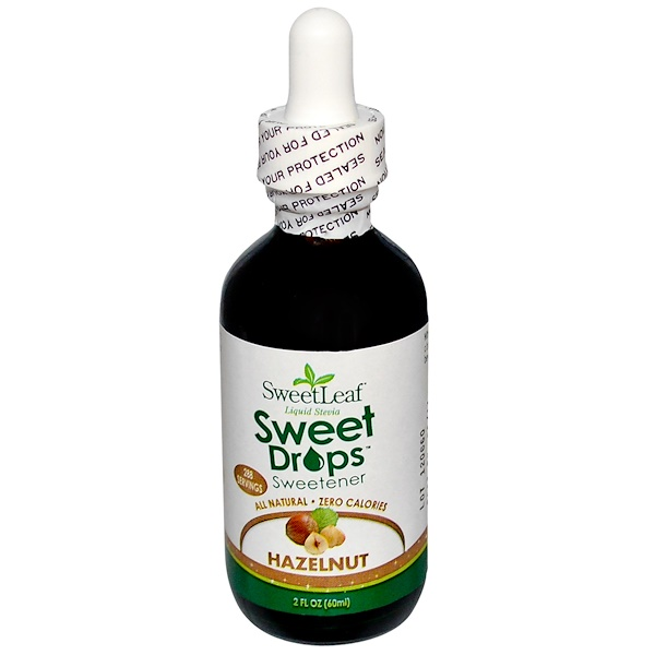 Wisdom Natural, SweetLeaf, Liquid Stevia, Sweet Drops, Hazelnut, 2 fl oz (60 ml)
