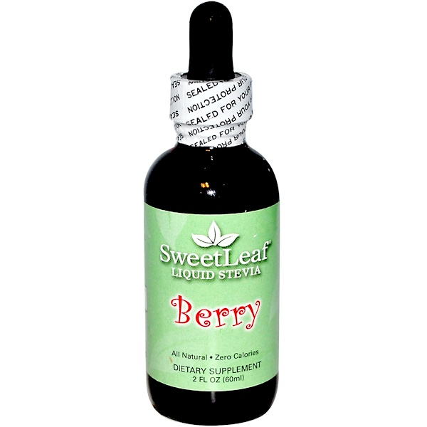 Wisdom Natural, SweetLeaf, Liquid Stevia, Berry, 2 fl oz (60 ml)