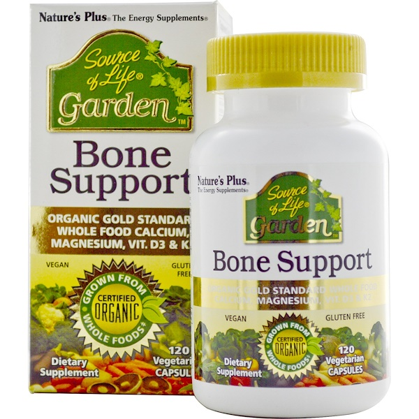 Nature's Plus, Source of Life Garden, Organic Bone Support, 120 Vegan Capsules