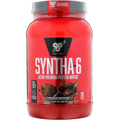 BSN, Syntha-6, Protein Powder Drink Mix, Chocolate Milkshake, 2.91 lbs (1.32 kg)