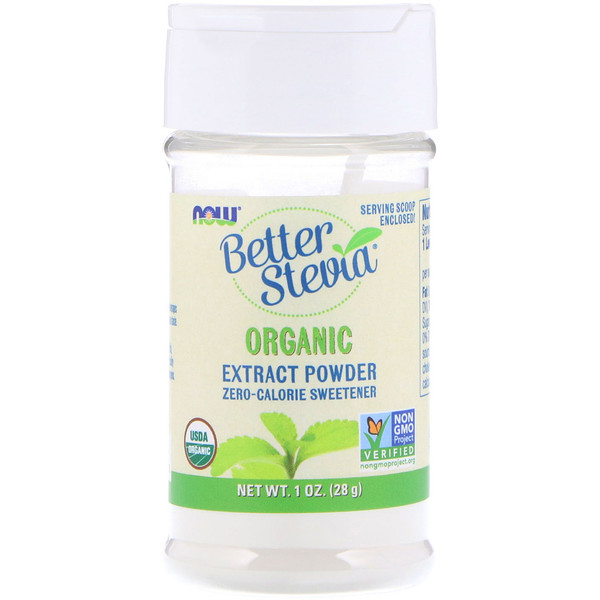 Now Foods, Certified Organic, Better Stevia, Extract Powder, 1 oz (28 g)