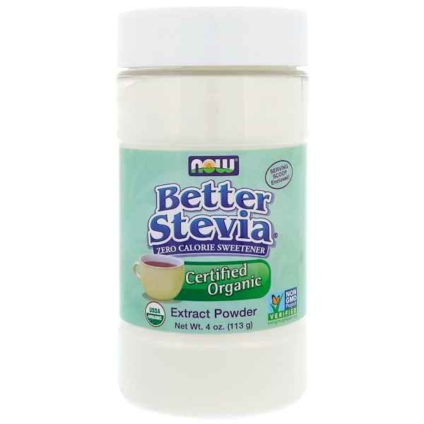 Now Foods, Certified Organic, Better Stevia, Extract Powder, 4 oz (113 g)