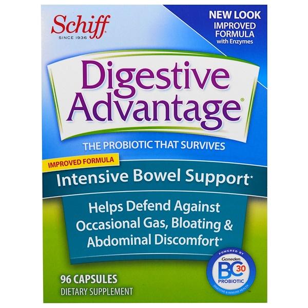 Schiff, Digestive Advantage, Intensive Bowel Support, 96 Capsules
