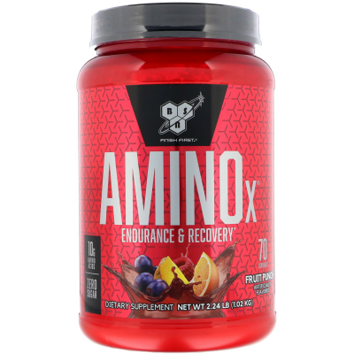 BSN, AminoX, Endurance & Recovery Agent, Non-Caffeinated, Fruit Punch, 2.23 lb (1.01 kg)
