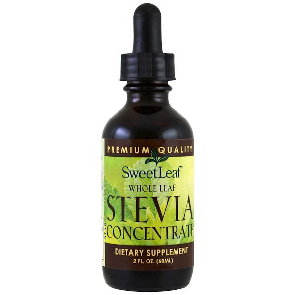 Wisdom Natural, SweetLeaf, Whole Leaf Stevia Concentrate, 2 fl oz (60 ml)