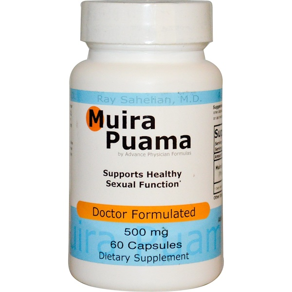 Advance Physician Formulas, Inc., Muira Puama, 500 mg, 60 Capsules