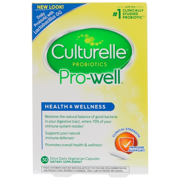 Culturelle, Health & Wellness, Daily Immune Support Formula, 30 Veggie Caps