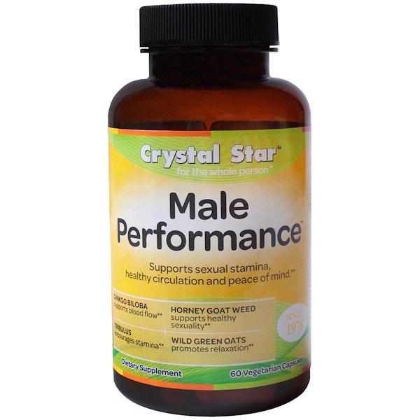 Crystal Star, Male Performance, 60 Veggie Caps