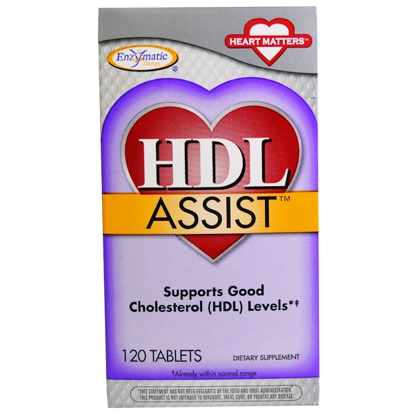 Enzymatic Therapy, HDL Assist, 120 Tablets