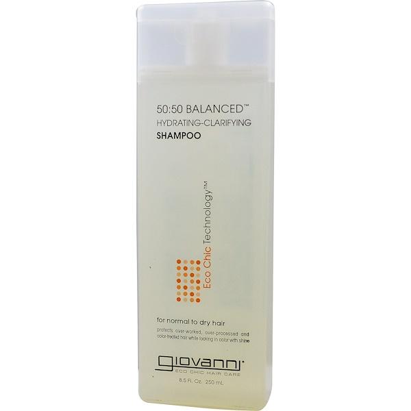 Giovanni, 50:50 Balanced Hydrating-Clarifying Shampoo, 8.5 fl oz (250 ml)