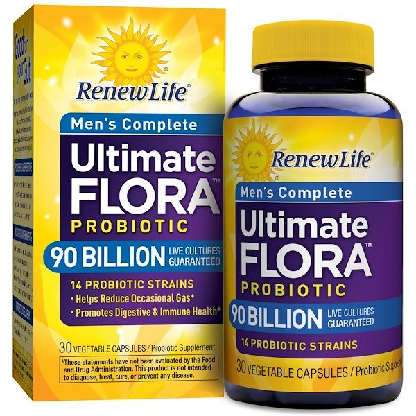Renew Life, Ultimate Flora Men's Complete, 30 Veggie Caps