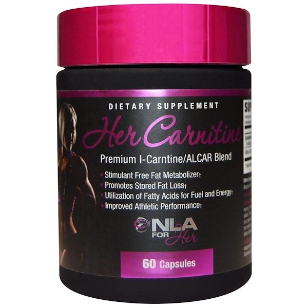 NLA for Her, Her Carnitine, Premium l-Carnitine/ALCAR Blend, 60 Capsules