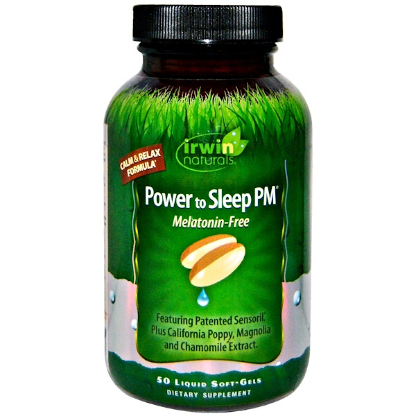 Irwin Naturals, Power to Sleep PM, Melatonin-Free, 50 Liquid Soft-Gels
