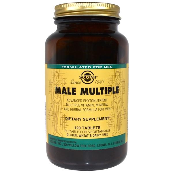 Solgar, Male Multiple, 120 Tablets