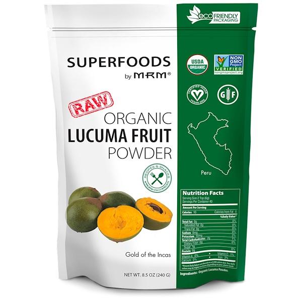 MRM, RAW Organic Lucuma Fruit Powder, 8.5 oz (240 g)