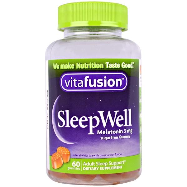 VitaFusion, SleepWell, Adult Sleep Support, 60 Gummies
