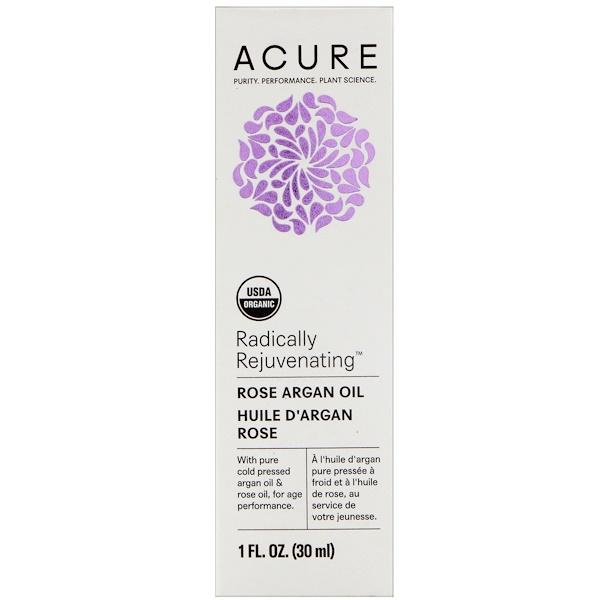 Acure Organics, Aromatherapeutic Moroccan Argan Oil, Rose, 1 fl oz (30 ml)