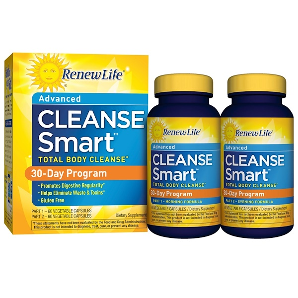 Renew Life, CleanseSmart, Advanced Total-Body Internal Cleanse, 30 Day Program