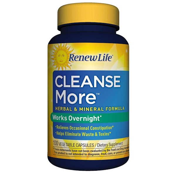Renew Life, CleanseMore, 100 Vegetable Capsules