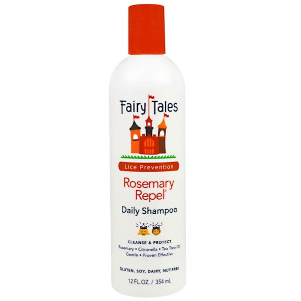 Fairy Tales, Rosemary Repel Daily Shampoo, Lice Prevention, 12 fl oz (354 ml)
