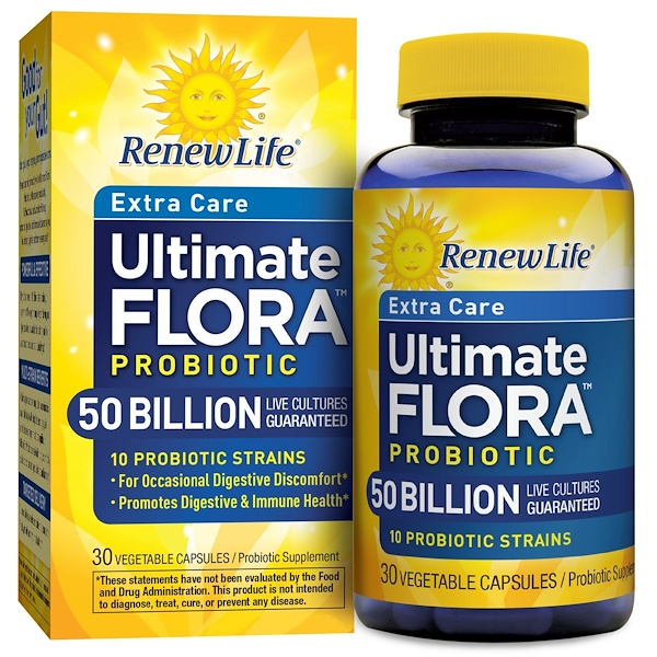 Renew Life, Ultimate Flora, Critical Care, 50 Billion, 30 Veggie Caps