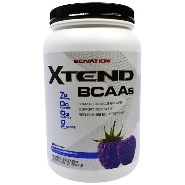 Scivation, Xtend, BCAAs, Blue Raspberry, 44.0 oz (1248 g)