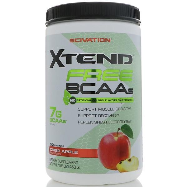 Scivation, Xtend Free BCAAs, Crisp Apple, 15.8 oz (450 g)