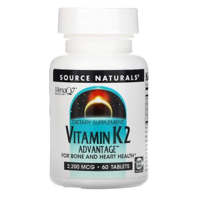Source Naturals, Vitamin K2 Advantage, 2,200 mcg, 60 Tablets