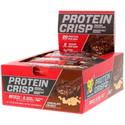 BSN, Protein Crisp, Chocolate Crunch Flavor, 12 Bars, 2.01 oz (57 g) Each