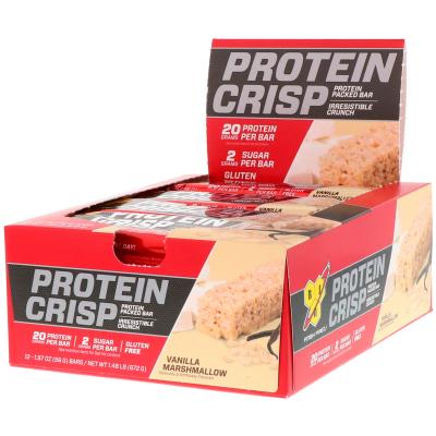 BSN, Syntha-6 Protein Crisp, Vanilla Marshmallow Flavor, 12 Bars, 1.97 oz (56 g) Each