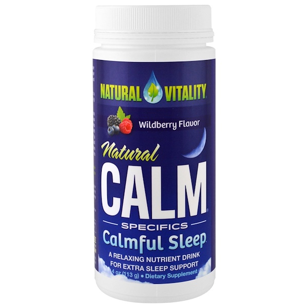 Natural Vitality, Natural Calm, Calmful Sleep, Wildberry Flavor, 4 oz (113 g)