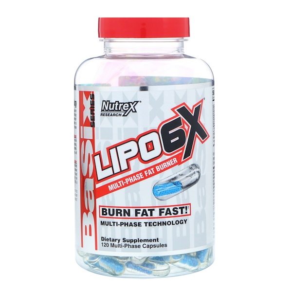Nutrex Research Labs, Basix Series, Lipo-6X, 120 Capsules