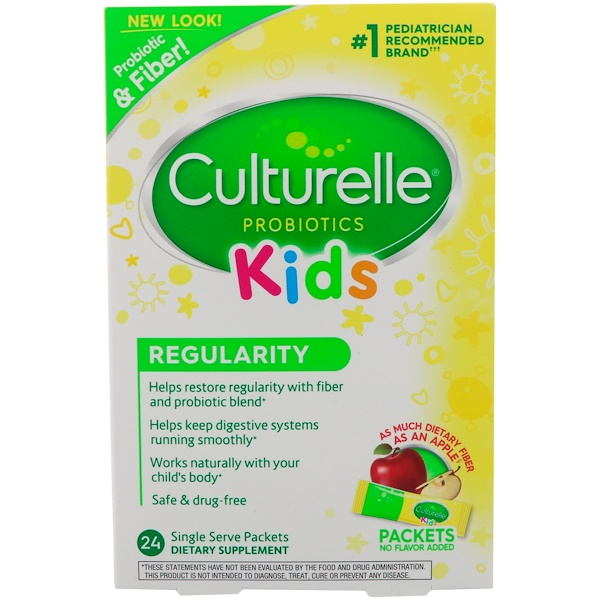 Culturelle, Kids, Regularity, Gentle-Go Formula, 24 Flavorless Single Serve Packets