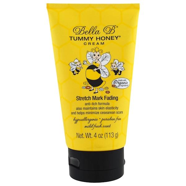 Bella B, Tummy Honey Cream, Stretch Mark Fading, Mild Fresh Scent, 4 oz (113 g)