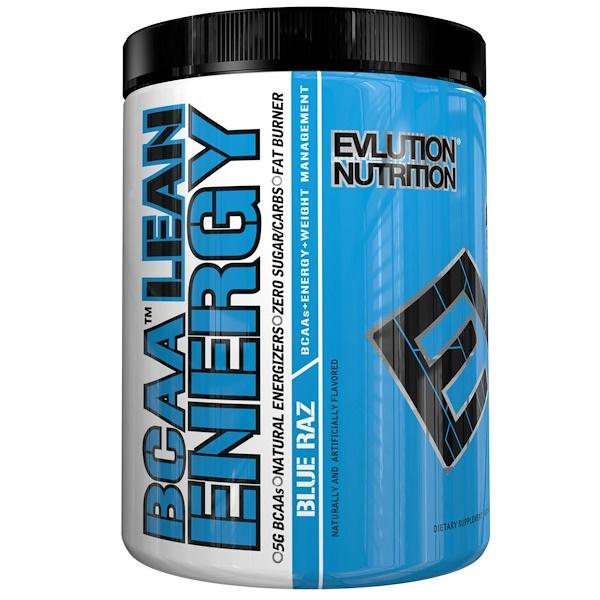 EVLution Nutrition, BCAA Lean Energy, Blue Raz, 11.2 oz (318 g)