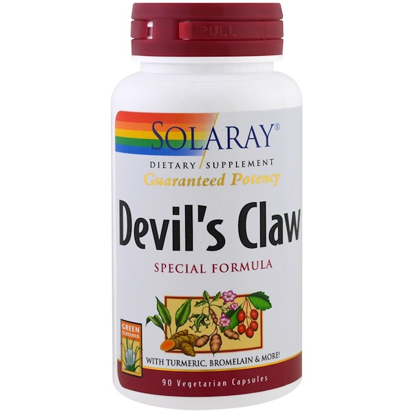Solaray, Devil's Claw Special Formula, 90 Veggie Caps