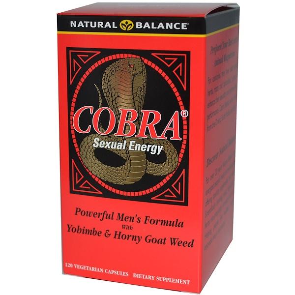 Natural Balance, Cobra Sexual Energy, 120 Vegetarian Capsules