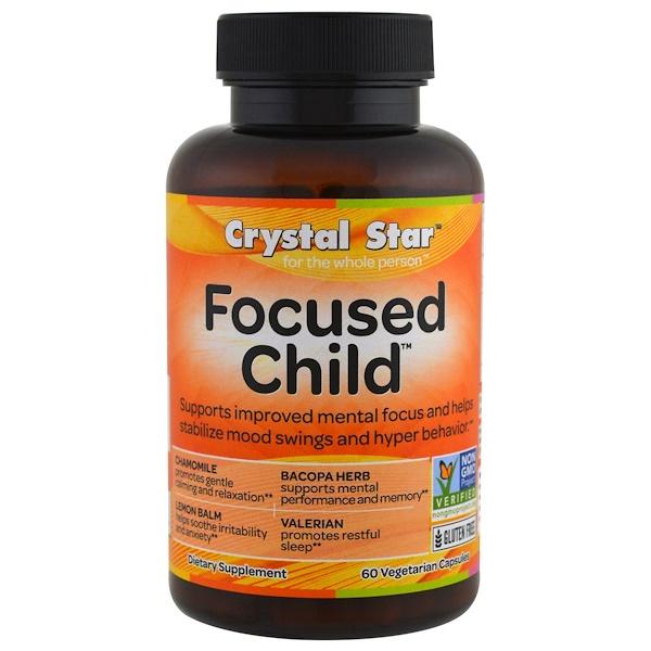 Crystal Star, Focused Child, 60 Veggie Caps
