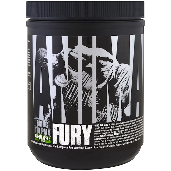 Universal Nutrition, Animal Fury, The Complete Pre-Workout Stack, Green Apple , 330.6 g