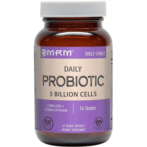 MRM, Daily Probiotic, 30 Vegan Capsules